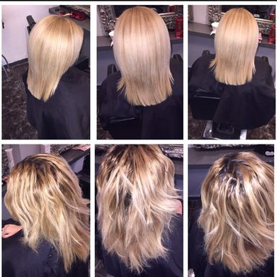 keratin blonde done in salon
