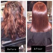 copper red colour hair revlon before and after