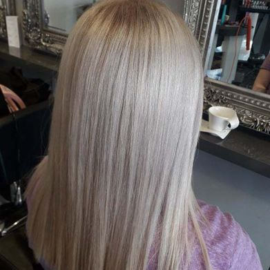 blonde keratin hair